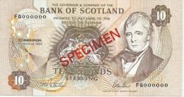 Bank Of Scotland 10 Pounds 1993. UNC SPECIMEN P-117 - [ 3] Scotland
