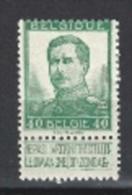 België/Belgique/Belgium N° OCB 114* - 1912 Pellens