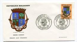 MADAGASCAR - enveloppe PJ - armoiries d' Antsohihy - 22 janvier 1968