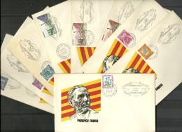 ANDORRA- LOTE DE 9 SOBRES POMPEU FABRA  SELLO CON TAMPON FLAMA PUBLICITARIA FESTES P. DE CULTURA.  (S-2 - C.08.14)) - Andorra Española