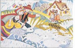 Carte Illustrée - Il Pleut, Il Pleut Bergère - Chanson - Autres Collections