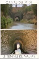 Le Tunnel De Malpas.. Entre Colombiers Et Capestang.. Péniche.. Batellerie .. Navigation.. Canal Du Midi - Capestang
