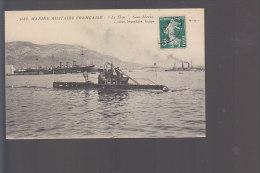 """Cpa , Marine Militaire Française  , """" Le Thon """" Sous Marin  , Voyagé - Onderzeeboten"""