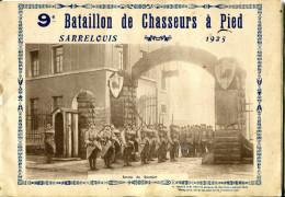 MILITARIA.ALLEMAGNE.SARRE LOUIS.LIVRET DE PRESENTATION DU 9e BATAILLON DE CHASSEURS A PIED.1925.