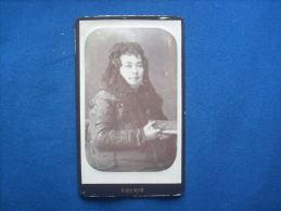 Photo CDV Fourié à Bordeaux - Portrait Femme Avec Mantille   L161 - Anciennes (Av. 1900)