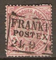 CONFEDERATION  DE  L´ALL. Du Nord.  .   .1869 .  Y&T N° 20 Oblitéré - North German Conf.