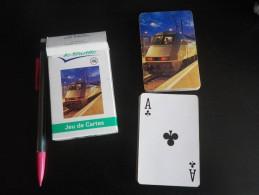 jeu de 52 cartes � jouer  - TRANSPORTS SHUTTLE TRAIN