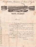 """Saint-etienne 42  """" Manufrance Francaise D'armes Et De Cycle , Facture De 1902 - Espagne"""