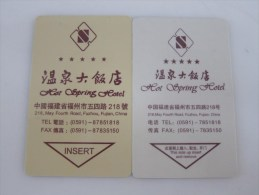 Hot Spring Hotel,two Different(phone Number 7 Digits And 8 Digits - Cartes D'hotel