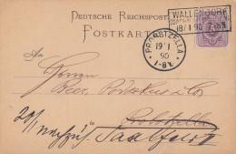 DR Karte EF Minr.40 Nachv. Stempel Wallendorf 18.1.90 Gel. Nach Probstzella - Deutschland