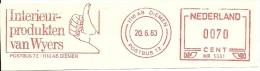 Nice Cut Meter Netherlands Interieur Wijers Hand, Diemen 20-6-1983 - Textile