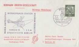 Berlin Brief EF Minr.202 Berlin 1.2.64 Perfin D.R.G. - Berlin (West)