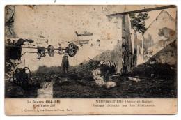 CP, MILITARIA, NeufMoutiers, Ferme Détruite Par Les Allemands, écrite En Septembre 1922 - Guerre 1914-18