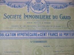 Action Nîmes 1926. Société Immobilière Du Gard - Aandelen