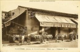 """CP De ILE-ROUSSE """" Restaurant Des Voyageurs , Avenue Du Générale-graziani """" Rare - Calvi"""