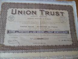Action  Union Trust Paris - Industrie