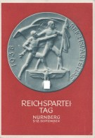 DR Propagandakarte Vom RPT 1938 EF Minr.672 SST Nürnberg 9.9.38 - Deutschland