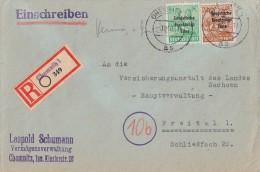DR R-Brief Mif Minr.190, 197 Chemnitz 4.10.48 - Sowjetische Zone (SBZ)