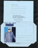 Isle Of Man Postal Stationery Air Letter Aerogramme Form Unused Winston Churchill (A878) - Isle Of Man