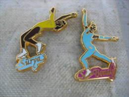 2 Beaux Pin´s De La Patineuse SURYA BONALY - Skating (Figure)