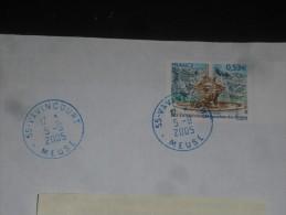 VAVINCOURT - MEUSE - CACHET ROND MANUEL ENCRE BLEUE SUR YT 3777 - FONTAINE AIX EN PROVENCE - - Marcophilie (Lettres)