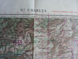 Algérie Carte Topographique St CHARLES 1/50.000° 1960 - Topographical Maps
