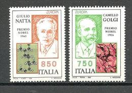 ITALIE. Camillo Golgi, Prix Nobel Médecine 1906, Giulio Natta,prix Nobel De Chimie 1963. 2 T-p Neufs ** - Prix Nobel