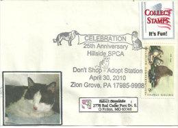 USA. Adopt A Pet., Adoptez Un Chat Ou Chien ,Zion Grove, Pennsylvanie. Enveloppe Souvenir - Domestic Cats