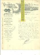 52 - Haute-marne - ST-DIZIER - Facture WAHL - Quincaillerie - Fers - Fontes - Aciers - 1908 - REF 73 - 1900 – 1949