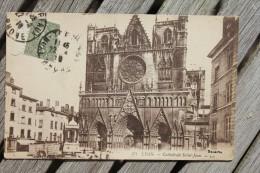 Carte Postale Ancienne Lyon (Rhône) Cathédrale Saint-Jean - Autres