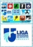 Uruguay 2014 ** Sello Con Bandeleta. Centenario De La Liga Universitaria De Deportes. See Description. - Uruguay