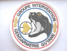 RARE INSIGNE TISSUS PATCH GENDARMERIE NATIONALE LE GIGN GUYANE SUR VELCRO ETAT EXCELLENT
