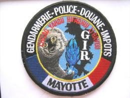 RARE INSIGNE TISSUS PATCH GENDARMERIE NATIONALE LE GIR DE MAYOTTE ( VELCRO) ETAT EXCELLENT
