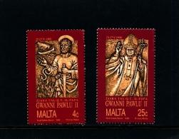 MALTA - 1990  VISIT OF POPE  SET  MINT NH - Malta