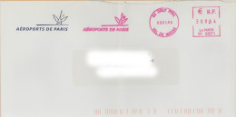 EMA BH 02071 Orly 94 Val De Marne + Flamme Aéroports De Paris Sur Enveloppe ADP Tour Eiffel - Otros (Aire)
