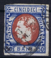 Romenia, 1869  Mi Nr 25 Used , - 1858-1880 Moldavië & Prinsdom