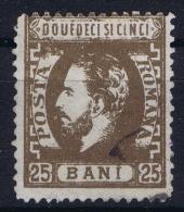Romenia, 1872 Mi Nr 34 Used - 1858-1880 Moldavië & Prinsdom