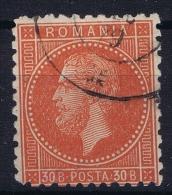 Romenia, 1876 Mi Nr 47 Used - 1858-1880 Moldavië & Prinsdom
