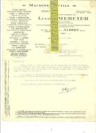 80 - Somme - ALBERT - Facture MERCIER - Machines Outils - 1929 - REF 73 - 1900 – 1949
