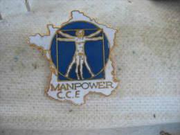 Pin�s du CCE de MANPOWER, Travail interimaire. Carte de France