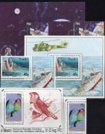 M/s EXPO 1992 Südafrika Ciskei Block 7,8 Transkei Bl.12+3xBM** 40€ Space Philatelic Ship Sheets Bird Bf South Africa RSA - Timbres