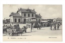 L 1603 - Oudjda La Gare Autobus Et Calèche - Autres
