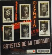 FEUILLET - 2011 - Artistes De La Chanson N° F4605 - NEUF** Parfait Etat - - Blokken En Velletjes