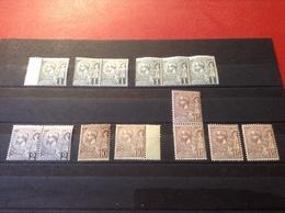 Briefmarken 6 Mal 1 Cent, 2 Mal 2 Cent, 2 Mal 10 Cent, 4 Mal 15 Cent Fürst Albert I. Monaco - Monaco