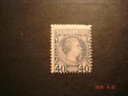 Briefmarke 40 Cent Stahlblau Fürst Charles III. Monaco 1885 Michel Nr. 7 Postfrisch - Monaco