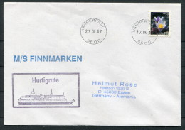 2004  Norway Spitsbergen Hammerfest M/S Finnmarken Hurtigrute Ship Cover - Briefe U. Dokumente