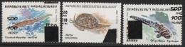 Madagascar Madagaskar 1998/1999 Hai requin Shark mollusque crustac� shellfish surcharg� Aufdruck Overprinted