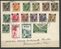 1940 - OCCUPATION - Yvert  n� 17 � 32  oblit�r�s (o)  sur lettre - 1941- SERIE COMPLETE