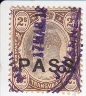 Transvaal Fiskale Zegel Paspoorten Barefoot 4 £7.50 - África Del Sur (...-1961)