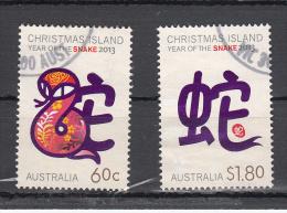 Christmas Island 2013 Nr  732+733 Year Of The Snake - Christmaseiland